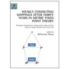 Weakly commuting mappings after thirty years in metric fixed point theoryFunzioni debolmente commutative dopo trenta anni in teoria metrica dei punti fissi