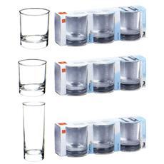Confezione 3 Pezzi Bicchiere per Acqua - Modello Cortina