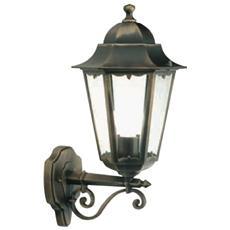 Applique in alto design classico illuminazione da esterno nero-oro 100w 6pz