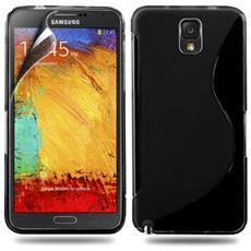 Cover Custodia Sline Silicone Tpu - Nero - Samsung Galaxy Note 4