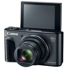 """Fotocamera Digitale Compatta PowerShot SX730 HS Sensore CMOS 20.3 MP Stabilizzato Zoom Ottico 40x Touch Screen Inclinabile 3"""" Wi-Fi / NFC Nero"""
