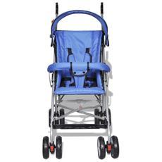 Passeggino Carrozzino Per Bambini Stile Moderno Blu