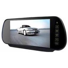 Specchietto Retrovisore Monitor 7 Pollici Bluetooth Vivavoce Usb Sd Mp5