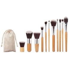 Pennelli Professionali Trucco Set 11 Pz Make Up Makeup Brushes Donna