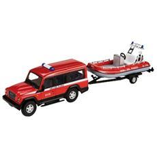DieCast 1:43 Auto Vigili del Fuoco Jeep Massif c / Rimorchio+Gommone 53131