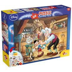 Pinocchio - Puzzle Double-Face Plus 108 Pz
