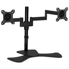 Dual Swivel Desk Stand Mount 2 Displays Up To 27in