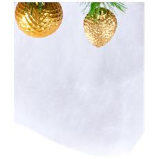 Tappeto Di Neve Per Natale 245 X 38 Cm Taglia Unica
