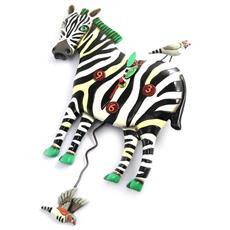 orologio da parete '' zebra (25x14 cm) - [ m9886]