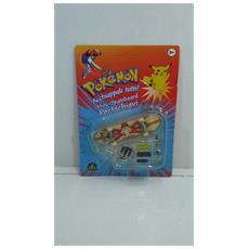 Pokemon Mini-skateboard Portachiavi Con Ruote E Accessori - 8000144512157