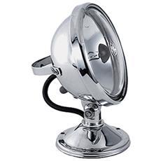 Faro Fisso Faretto Nautica 30 Watt 12 Volt Navigazione Perko Con Lampada Ottone