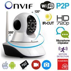 Telecamera Ip Hd Wireless In Tempo Reale, Comandata A Distanza Con Visione Notturna, sensore Mov