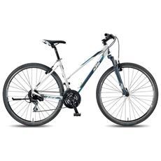 City Bike Trekking Ktm Life One Donna 24v Acera Bianco Opaco