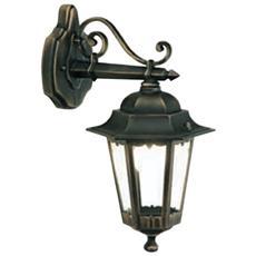 Applique in basso design classico illuminazione da esterno nero-oro 6pz