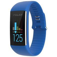 A360 Fitness Tracker Misura M Cardiofrequenzimetro, Contapassi, Calorie e Sonno + Notifiche con vibrazione - Blu