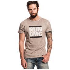 Run Dmc - Logo (Olive) (T-Shirt Unisex Tg. 2XL)