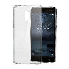 Cover in Plastica per Nokia 6 Colore Trasparente