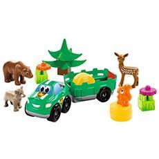 ECF7600003256 Abrick Animali della foresta, con 1 veicolo