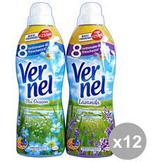 Set 12 Ammorbidente Concentrato 1 Lt. Blu Oxygen-lavanda Detergenti Casa