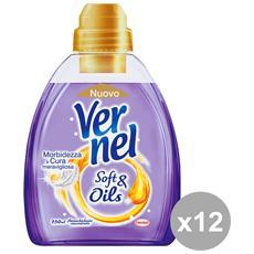 Set 12 Ammorbidente Concentrato Soft&oil Viola 750 Ml. Detergenti Casa