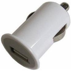 Micro Caricabatterie Alimentatore Auto Usb Da Accendisigari Auto 5v Bianco