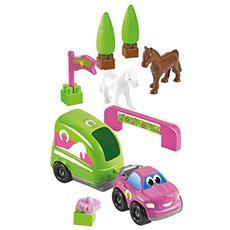 ECF7600003254 Abrick - Set Trasporto Cavalli, con 2 cavalli