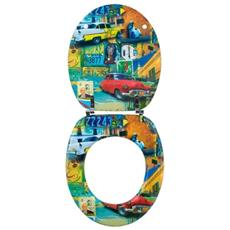 20718772 - Sedile Wc Trendy Line, Motivo Colori Di Cuba
