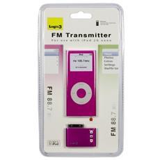 FM Transmitter for iPod nano 2G, Pink, 87.5 - 108.0 MHz, Rosa