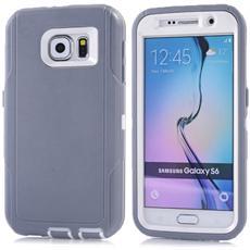 Custodia Ibrida 3in1 Silicone Plastica Grigio Per Samsung Galaxy S6 G920