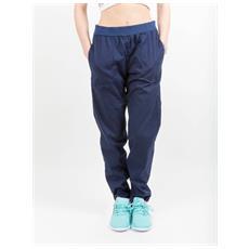 Pantaloni Donna Popeline Stretch Blu M