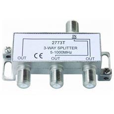 Ripartitore Splitter Tv Sdoppiatore Coassiale 1 In 3 Out Moltiplicatore Antenna