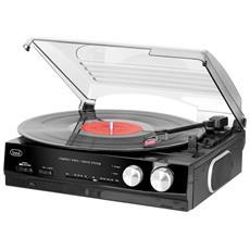 Giradischi Stereo Vintage Con Encoding Tt 1010 R Nero