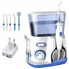 Idropulsore Professionale V300 800ml 5 Ugelli Testine Per Denti Getto Acqua Pulse Pulizia Dentale Orale Igiene Interdentale
