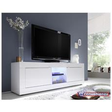 Basic Porta Tv Contenitore 2 Ante Bianco 180 Cm
