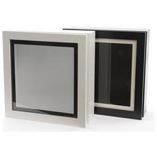 Scatola in Legno da 28 x 28 cm Colore Bianco / Nero