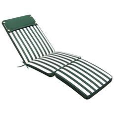 Cuscino Lettino Sfoderabile Impermeabile Verde A Strisce Cu805680