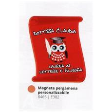 Bomboniere Laurea Personalizzata Pergamena Magnete Gufo In Pvc + Confezione