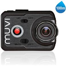 Muvi K-2, Scheda di memoria, Ioni di Litio, 1920 x 1080 Pixel, 720p, 1080p, Mini-USB, MicroSD (TransFlash)