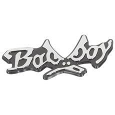 07233 Bad Boy - Emblema 3d Cromato, Per Decorazione Auto, 75 X 42 Mm