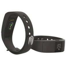 "Activity Tracker T-Fit Display 0.49"" Bluetooth con Cardiofrequenzimetro e Pedometro Nero - Italia"