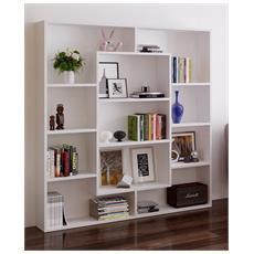 Venus Libreria - Scaffale Per Libri - Scaffale Per Ufficio / Soggiorno Dal Design Moderno (bianco)
