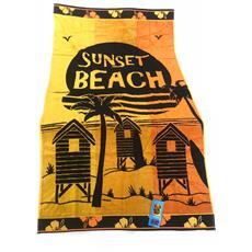 Asciugamano Telo Mare 100% Cotone Sunset Beach 86x160 Cm 6220491860479