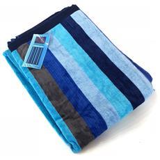 Asciugamano Telo Mare 100% Cotone Stripes Navy 70x140 Cm 6220491701413-486