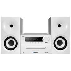 Sistema Hifi Cd Mp3 Usb Bluetooth Hcx 1080 Bt Bianco