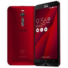 """ZenFone2 5.5 Rosso 64 GB 4G/LTE Display 5.5"""" Full HD Slot Micro SD Fotocamera 13 Mpx Android Italia"""