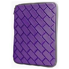 Custodia Universale In Tessuto Imbottita Con Zip Per Tablet Fino A 10.1' Pollici Colore Viola Effetto Mattoncini