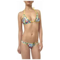 Bikini Donna Triangolo Hawaii Fantasia Giallo S