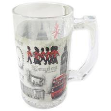 tankard a bere birra 'so british' bianco rosso - 225x9 cm - [ p0322]