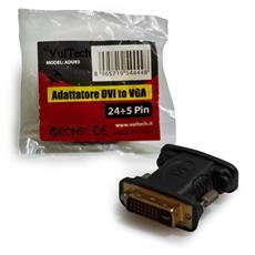 D-Sub - DVI 24+5-pin, F - M, Nero