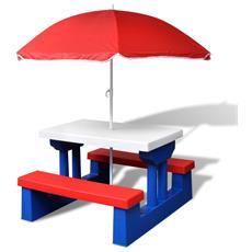 Tavolo Da Picnic Con Parasole Per Bambini
